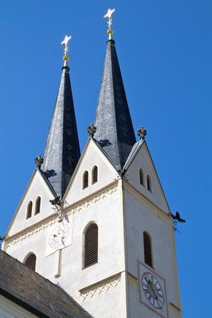 church steeple: Historic bavarese chiesa dal campanile