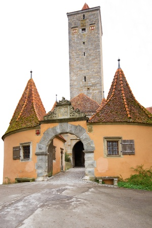 Medieval Tower in Rothenburg, Germany, isolated Stock Photo - 10523150