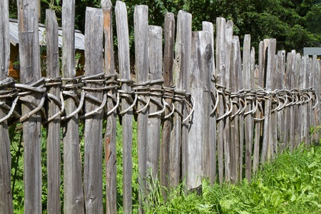 neighbours: Old wooden fence in South Tyrol