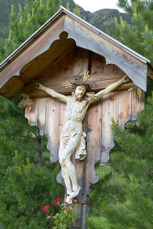 wayside: Wayside shrine in the mountains of South Tyrol, Italy