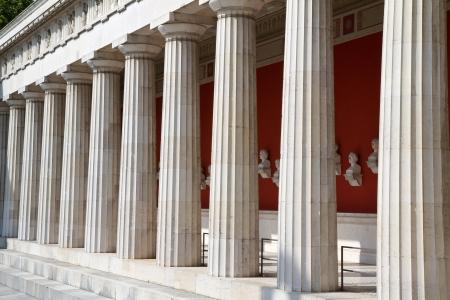 """De historische tempel """"Ruhmeshalle"""" in München, Duitsland Stockfoto"""