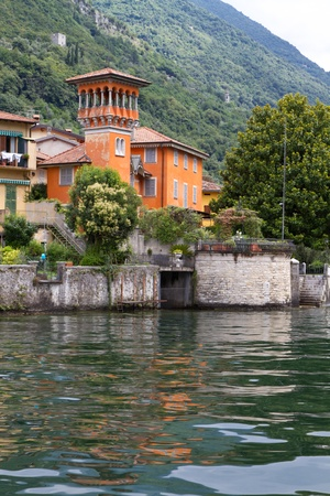 Old villa at lake Como, Italy photo