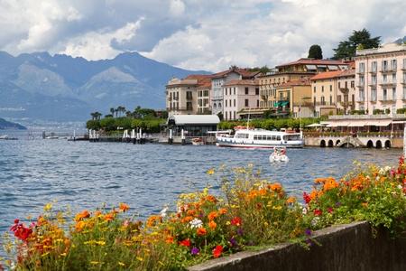 Het kleine stadje Belaggio aan het Comomeer in Italië