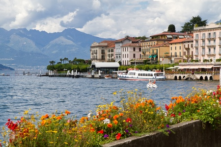 The small town of Belaggio at lake Como in Italy Stock Photo