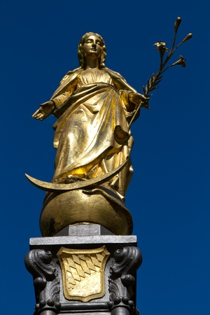 Marienfigur statue in the town of Wasserburg, Germany photo