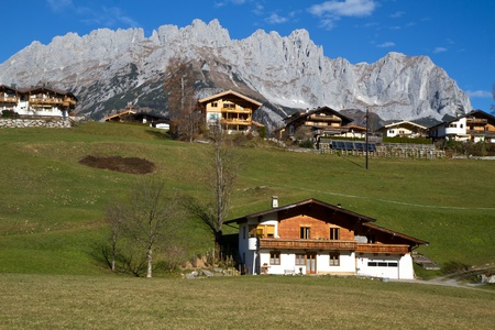 The picturesque village of Going in Austria photo