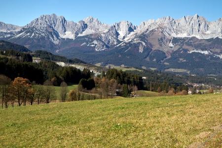 """""""Zahmer Kaiser"""" mountains in Tyrol, Austria, in autumn Stock Photo - 11321148"""