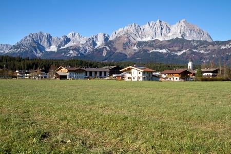 """Zahmer Kaiser"" mountains in Tyrol, Austria, in autumn photo"