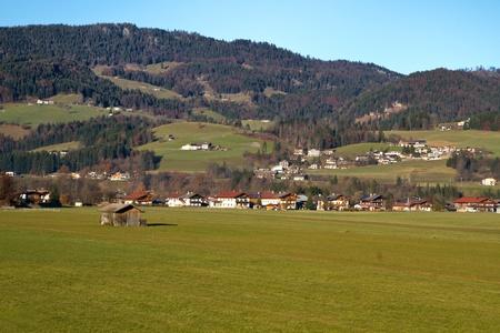 The small town of Koesen in Tyrol, Austria, in autumn photo