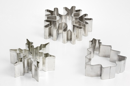 Cookie cutters on white background Stock Photo - 11321199
