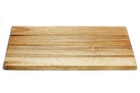 recortando: Tabla de cortar de madera, aislado en fondo blanco