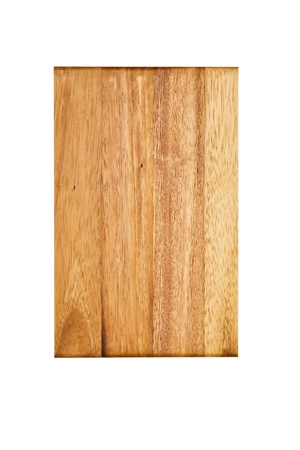 Wooden chopping board, isolated on white background photo