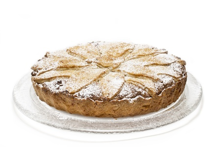 carrot cakes: Home-made  Ruebli-Pie  cake on white