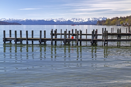 starnberger see: Jetty at  Starnberger See  Lake in Bavaria, Germany