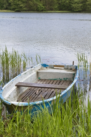 Old Rowboat on a lake in East Germany photo
