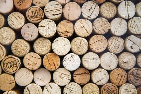 Patroon van wijnkurken als achtergrond, doorsneden