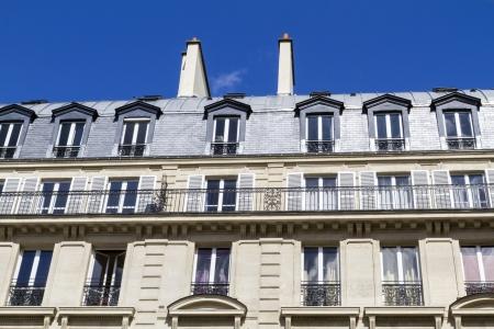 Typical parisian architecture, downtown Paris, France photo