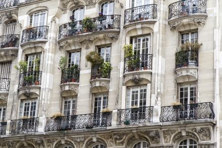 Typical parisian architecture, downtown Paris, France photo