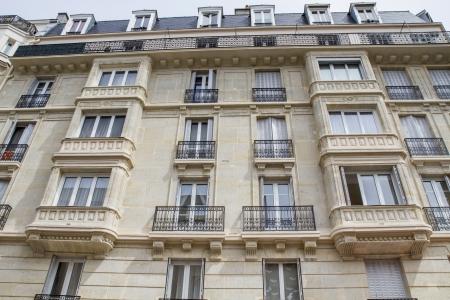 Typisch Parijse architectuur, het centrum van Parijs, Frankrijk