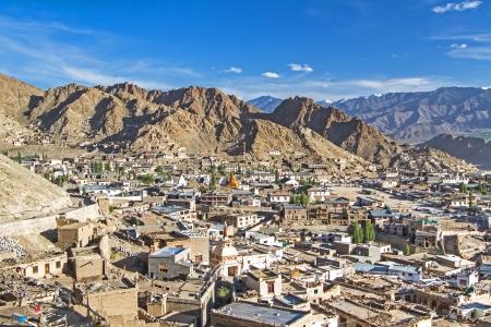Leh, de hoofdstad van Ladakh, Noord-India