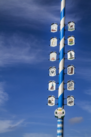 Traditional Bavarian Maypole, Germany photo