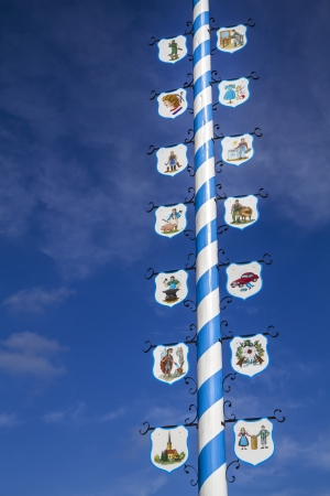 maypole: Traditional Bavarian Maypole, Germany