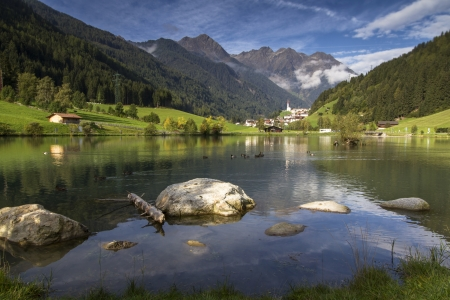Mountain village of Muehlwald in South Tyrol, Italy Stock Photo - 15755947