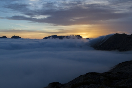 Sunrise in the Austrian Alps, Europe photo