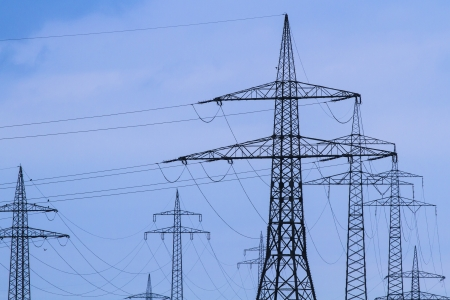 energy suppliers: Electrical towers in rural Bavaria, Germany