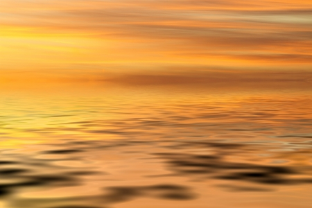 Orange sea and sky background photo