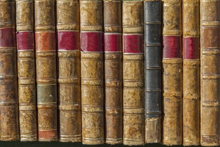 bibliomania: A pile of old weathered books