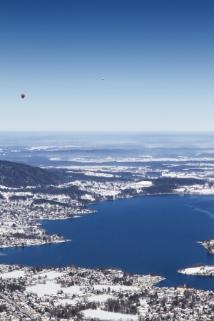 View to lake Tegernsee, Bavaria, Germany, in Winter photo
