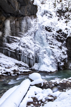 Partnachklamm gorge in Bavaria, Germany, in winter Stock Photo - 18302668