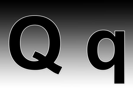 q: Alfabeto simbolo - lettera Q