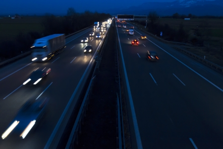 Night traffic on a german highway Stock Photo - 18356884