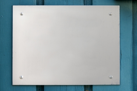 Signboard on painted wood photo