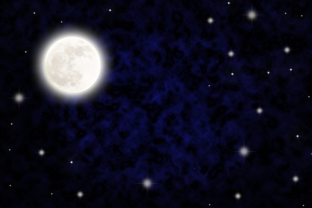 Night sky with fullmoon and stars photo