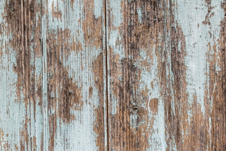 spall: Wooden painted old fence as grunge background
