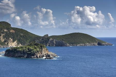 Coastline of Paleokastritsa on Corfu island, Greece photo