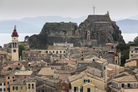 The city of the island of Corfu, Greece photo