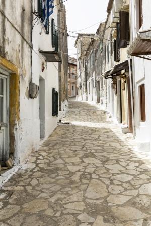 kerkyra: Picturesque alley in a mountain village on Corfu, Greece