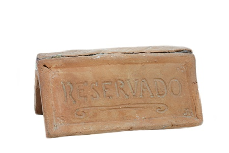 Sign saying Reservado or Reserved photo