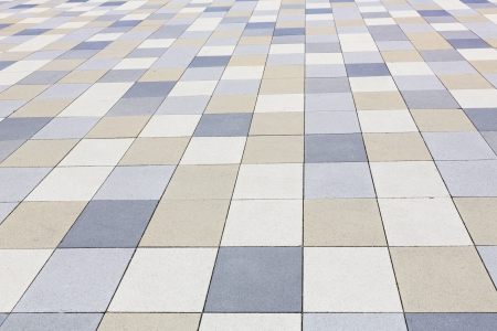 Background texture, tiled pavement city ground photo
