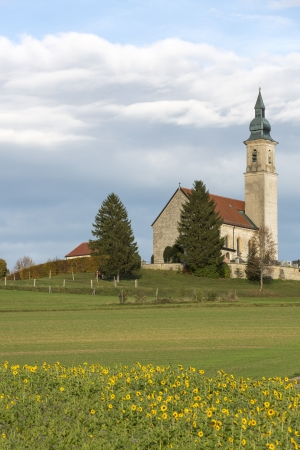 Historic small church in rural Bavaria, Germany photo