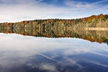 Autumn on a lake in Bavaria, Germany photo
