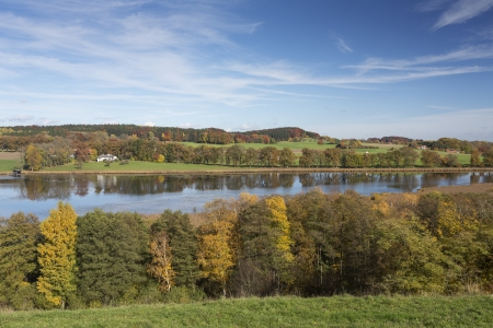 Lake Egglsee in Bavaria, Germany, in autumn photo