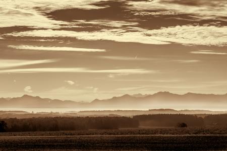 Morning fog in rural Bavaria, Germany Stock Photo - 23670447
