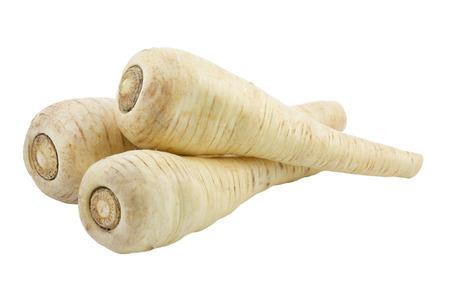 Pastinaken isoliert auf weißem Hintergrund Standard-Bild - 24695305