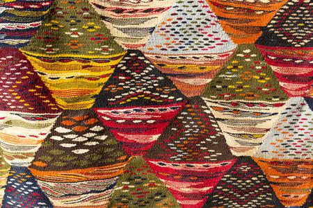 Moroccan carpet, closeup photo