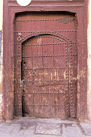 Old and weathered door, Morocco photo